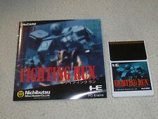 JAPAN IMPORT PC ENGINE HU CARD GAME FIGHTING RUN W MANUAL 1991 HUCARD HE SYSTEM