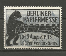 Germany/Berlin 1913 Paper Trade Fair poster stamp/label