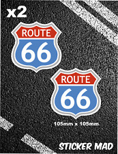 ROUTE 66 Stickers V8 American Highway Pontiac Mustang Corvette Muscle Car road