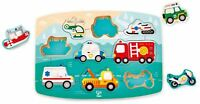 Hape EMERGENCY PEG PUZZLE Pre-School Young Children Wooden Toy Game BN