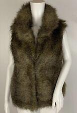 Jack Brown Faux Fur Fashion Vest Size M