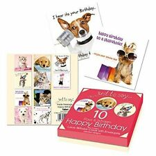 Female Ladies Childrens Mens Male Cat and Dog Kids Birthday Cards