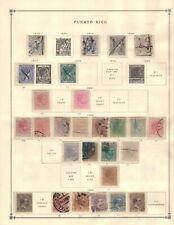 Puerto Rico Collection from Huge Scott Intern Album - 1840-1940