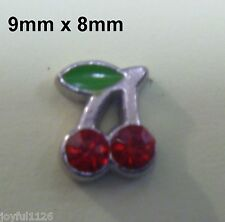 CHERRIES Alloy Floating Locket Charms for Glass Memory Lockets AUS Seller