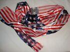 """Patriotic Scarf Stars & Stripes 58"""" x 13"""" Wear as Belt/Shawl/Around Neck NEW"""