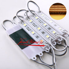 20pcs 3LED Module SMD 5050 RGB white Red Green Blue Yellow Sign Design DC12V