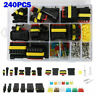 1-6 Pin Way Waterproof Car Electrical Wire Plug Connector Terminal Blade Fuses