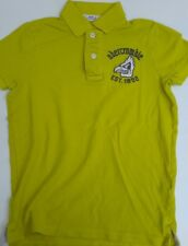 "ABERCROMBIE & FITCH BOY'S LlIME GREEN POLO SHIRT SIZE MEDIUM 15"" PIT TO PIT"