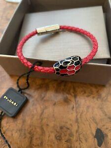 Bulgari Serpenti Forever Bracelet Red Leather