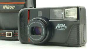 【N.MINT】Nikon TW ZOOM QUARTZ DATE 35mm Film Camera w/35-80mm MACRO Lens JAPAN 93