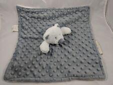 Blankets & Beyond White Bear Gray Lovey Security Blanket Stuffed Animal