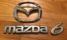 Mazda 6 rear trunk emblem badge logo set OEM Factory Genuine 2003 - 2008