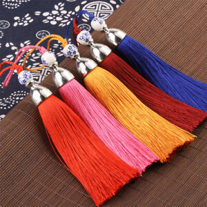 Silk tassel 24cm with loop for curtain tie backs & fashion accessories (UKbased)