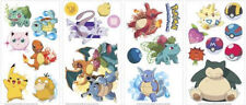 POKEMON wall stickers 24 decals iconic Pikachu Squirtle BULBASAUR scrapbook