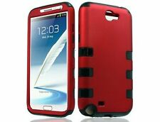 Dynamic Hybrid Tuff Hard Case for Samsung Galaxy Note II N7100 - Black/Red