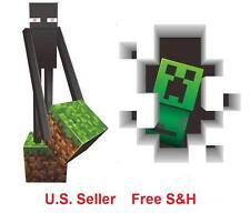 Minecraft 3D Vinyl Wall Sticker Decal Enderman Creeper