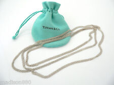Tiffany & Co Silver Peretti Long Mesh Weave Necklace Link 43.8 inch Chain