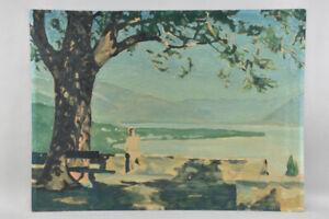 h20c21- Gemälde, Seelandschaft mit Person