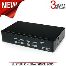 StarTech SV431USB 4 Port Professional VGA USB KVM Switch with Hub 1 local user