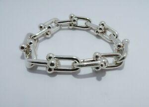 Tiffany & Co. Sterling Silver HardWear Link Chain Bracelet Medium