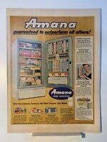 1955 Amana Food Freezers - Calvert Whiskey - Magazine Ad