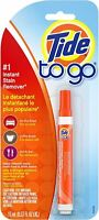 Tide To Go Instant Stain Remover Liquid Pen, 1 Count Laundry Washing