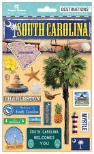Scrapbooking Crafts Stickers 2D South Carolina Palm Tree Myrtle Beach Charleston