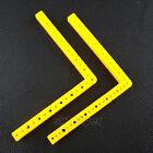 5pcs Yellow L Shape Plastic Strip Frame Bracket Rod For Robot Toy Car DIY