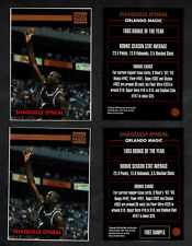 1993 (June) Pocket Pages Magic's Shaquille O'Neal, Insert and Free Sample Cards