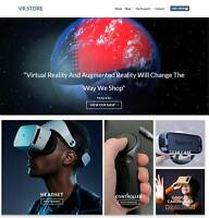 VR Store Website Business For Sale - Earn $448 A SALE. Hosting|Free Domain