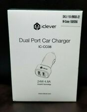 Dual USB Port Car Charger Adapter Quick for iPhone Samsung LG HTC