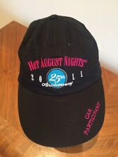 Hot August Nights Reno Nevada 25th Anniversary 2011 Black Cap Hat Adjustable
