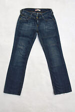Levis 570 Slim blau Straight Fit Stretch Denim Faded Jeans Red Tab W28 L30 Uk10