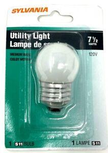 1 SYLVANIA S11 7-1/2W Incandescent Soft White Utility Light Bulb Medium Base
