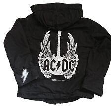 AC/DC Vintage Supreme Jacket NEU Etikett Lizenz schwarz dick gefüttert Parka