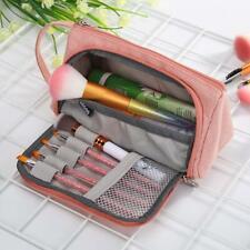 Large Capacity Cosmetic Pouch Canvas Pencil Case Zipper Boxes Pen Storage Bag