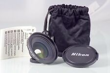 NIKON WIDE CONVERTER WC-E63 0.63X COOLPIX LENS AS NEW PERFETTO STATO