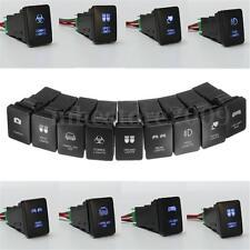 33x22mm 12V Blue LED Illuminated Switch On/Off For Toyota Landcruiser Yaris RAV4
