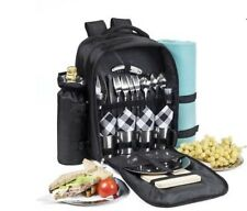 New Picnic Backpack All in One Set with Stainless Steel Plates and Cup