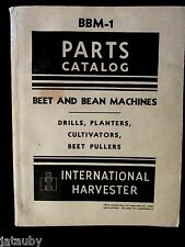 1946 INTERNATIONAL HARVESTER PARTS CATALOG BBM-1 BEET BEAN DRILL PLANTER Vintage
