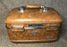 Vintage Brown American Tourister Escort Travel Train Cosmetic Hard Case Luggage