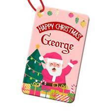 Personalised Any Name Rectangle Christmas Bauble Tree Decoration Gift 113
