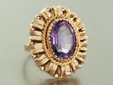 Ring Gold 585 - Goldring in 14 kt Gold mit Amethyst