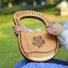 Lyre harfe, 16-string harp mahagoni körper mit string-tuning-schlüssel, tolles