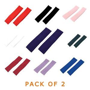 Pack of 2 Kylie Headbands 5 cm Wide Plain Stretchy head band Hair Bandeau Unisex