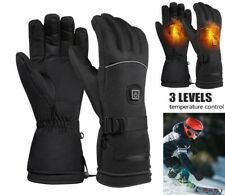 Unisex Electric Heated Glove Waterproof Thermal Winter Motorcycle Fishing Skiing