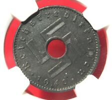 NGC MS-63 NAZI SWASTIKA 1940-A 10 REICHSKREDITKASSEN COIN-Germany 3rd-REICH MINT