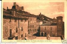 em 140 Anni 30 SAN MARINO Piazza Libertà e Tre Torri- non viagg - FP - Ed. Reffi