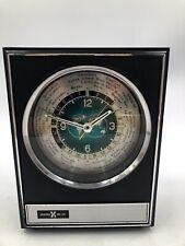 Howard Miller World Time Mantel / Shelf Clock Model 7RW001 Japan ~ Vintage MCM