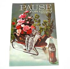 Coca-Cola Coke Pause pour Living Magazine Cahier USA Edition Winter 1962